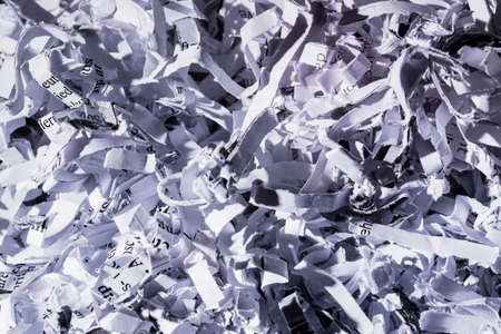 paper shredder: paper pulp, symbolic photo for data destruction, documentation and legacy Stock Photo