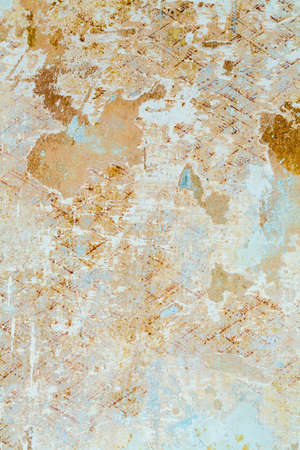 tristesse: remnants of wallpaper, photo icon for house resolution, change, decay Stock Photo