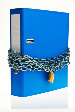a file folder with chain and padlock closed  privacy and data security  Stock Photo - 19420338