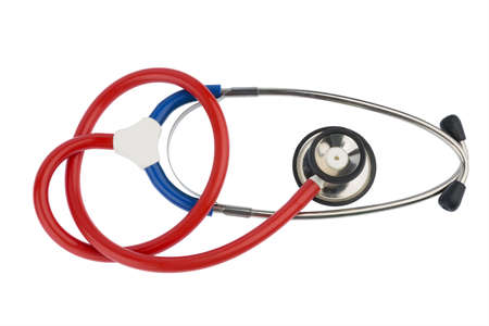 physicans: stethoscope on a white background, symbol photo for the medical profession and cardiovascular disease
