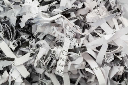 shred: paper pulp, symbolic photo for data destruction, documentation and legacy Stock Photo