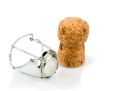clasp and champagne corks photo icon for celebrations, enjoyment and consumption of alcohol photo