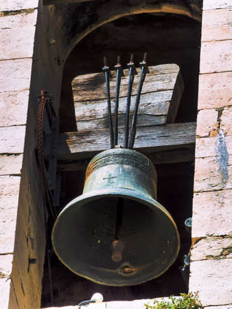 church bells: an old bell tower