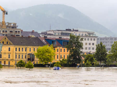 overflows flood in Austria Stock Photo - 20771371