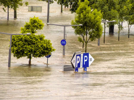 overflows flood in Austria Stock Photo - 20771292