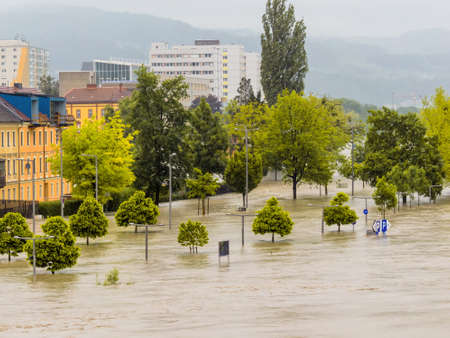 overflows flood in Austria Stock Photo - 20771293