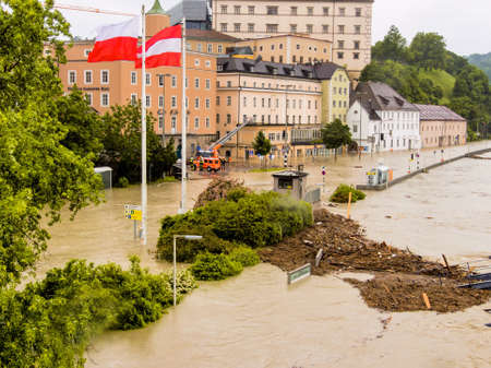 overflows flood in Austria Stock Photo - 20771294