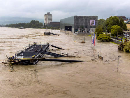 overflows flood in Austria Stock Photo - 20771295