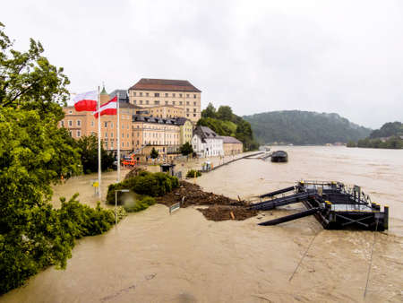 inundation and flooding in Austria Stock Photo - 20771411