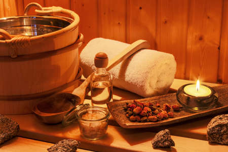 therapie: cosy atmosphere in the sauna