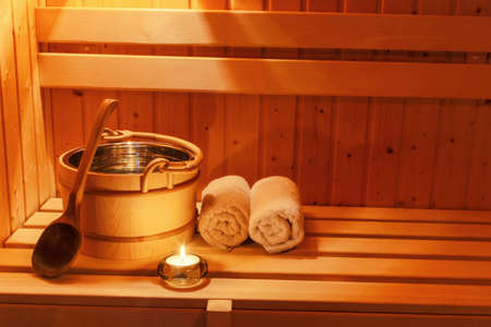 cosy atmosphere in the sauna