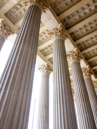 columns at the parliament in vienna photo