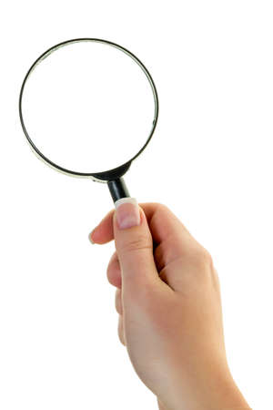 a hand holding a magnifying glass
