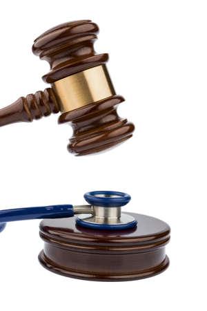 malpractice: gavel and stethoscope