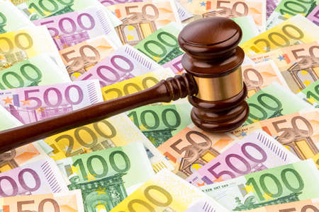 judges gavel and euro banknotes Stock Photo - 20772597