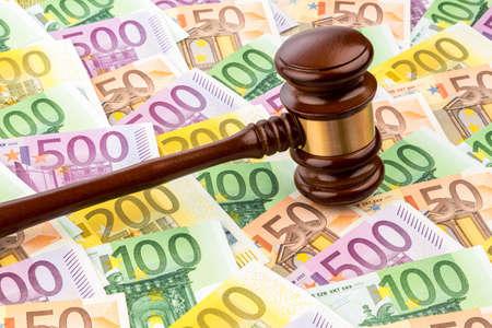 judges gavel and euro banknotes Stock Photo - 20772597