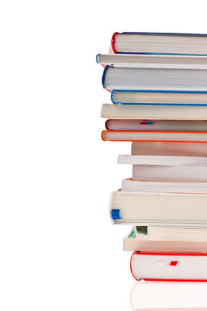stacked books: stack of books  isolated and isolated against a white background