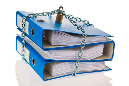 a file folder with chain and padlock closed  privacy and data security Stock Photo - 20785606
