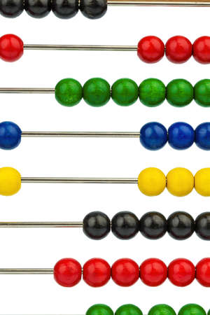 abacus with colored beads, symbol photo for finance, costing and accounting photo