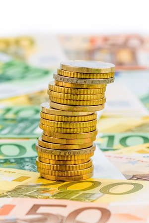 single stack of money coins symbol photo for financial planning, investment, investment Stock Photo - 22717573