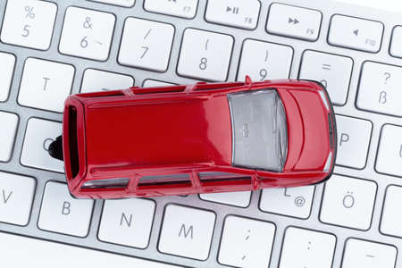 car keyboard symbol photo for car buying and car trading on the internet photo