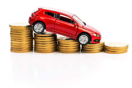 lull: declining profits in the automobile and for car manufacturers. Stock Photo