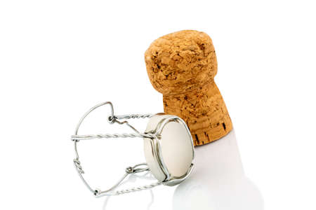 solemnity: clasp and champagne corks photo icon for celebrations, enjoyment and consumption of alcohol