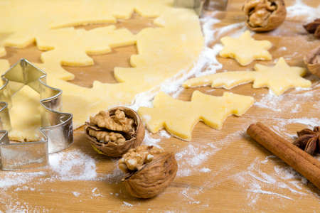 the anticipation: acken of cookies and biscuits for christmas. anticipation of advent.