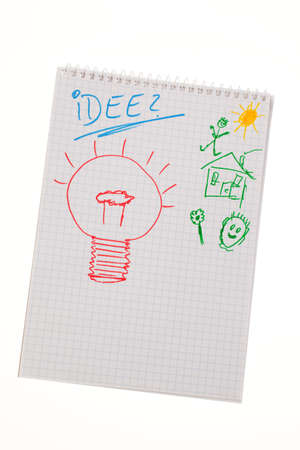 resourceful: bulb to drawing as a symbol of new ideas.
