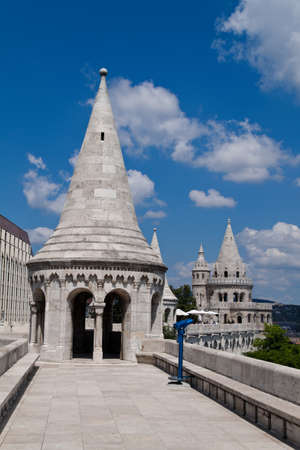 peoplesoft: eurtopa, hungary, budapest, fishermans bastion. one of the landmarks of the city.