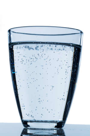 glass of water against white background, symbol photo for drinking water, water demand and consumption Stock Photo - 24002413