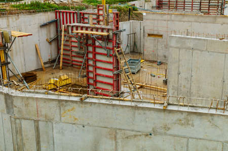 substantiate: the construction site of a new company building for production and administration