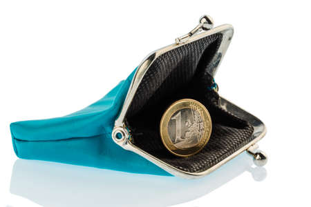 privat: an almost empty wallet as a symbol, photo on debt, poverty and bankruptcy