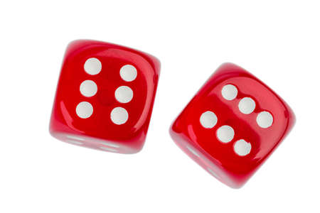 probability: red cube, symbol photo for gambling, risk and gambling addiction