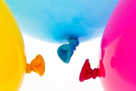 various colorful balloons. symbol of lightness, freedom, celebration Stock Photo