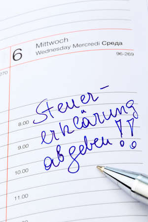 tax consultants: entry to the calendar: tax return. pay taxes on time