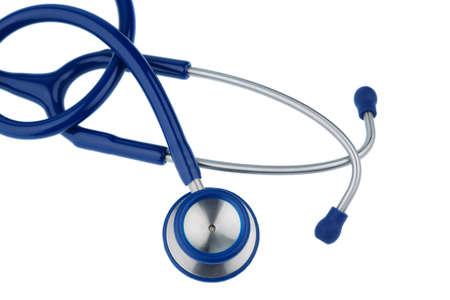 Stethoskop gegen weißen Hintergrund, Symbol Foto für die Ärzteschaft und Diagnose
