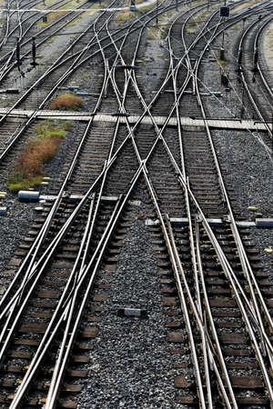 spoorlijnen met schakelaars