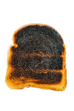 scorch: toast was burnt during toasting. burnt toast at breakfast.