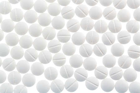 sleeping tablets: white tablets Stock Photo