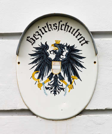 general knowledge: panel district council on a building of the administration in austria