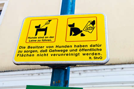feces: sign, dogs, cleanliness in the city