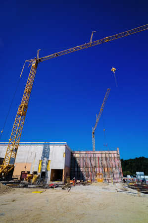 the construction site of a new company building for production and administration