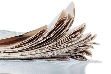 journalistic: varie riviste, simbolo foto per le notizie, supporti di stampa e la diversit� di opinione