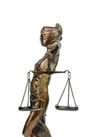 justitia: escultura de justitia, s�mbolo de fotos para la equidad y la justicia Foto de archivo