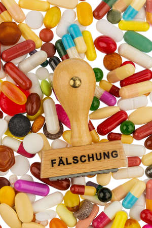 counterfeiting: symbolic photo for drug counterfeiting and piracy