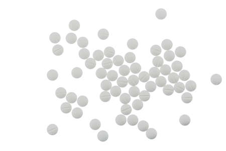 sleeping tablets: white tablets, symbol photo for medicine, remedies and painkillers