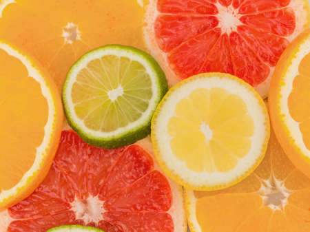 Slices Of An Orange Symbolic Photo For Healthy Vitamins With Stock