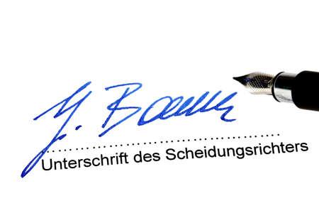 signature of divorce inverter under a divorce decree Stock Photo - 26887425