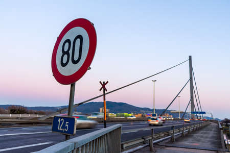 linz: the voestbrücke in linz, upper austria